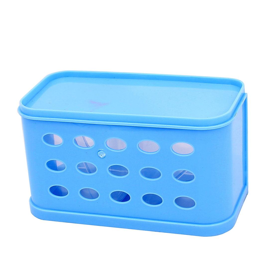 Kitchen Plastic Two Cells Spices Salt Condiment Dispenser Box Blue 2pcs - image 2 de 4