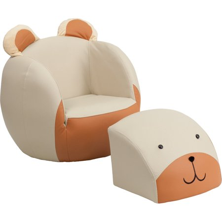 Pleasant Flash Furniture Kids Bear Chair And Footstool Pabps2019 Chair Design Images Pabps2019Com
