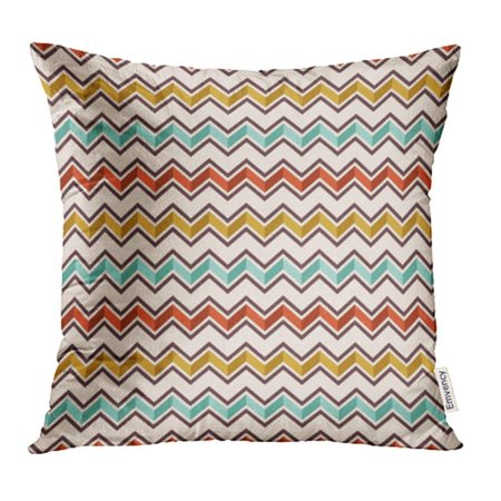 EREHome Abstract Geometric Zigzag Color Lines Colorful Chevron with Shadow Effect Pillow Case Pillow Cover 16x16 inch Throw Pillow Covers - image 1 of 1