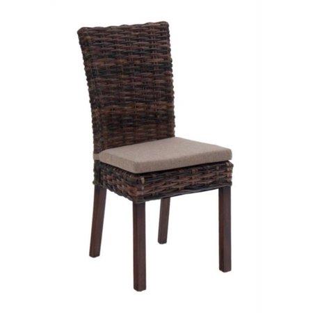 Jofran Urban Lodge Rattan Dining Chair In Brown Set Of 2