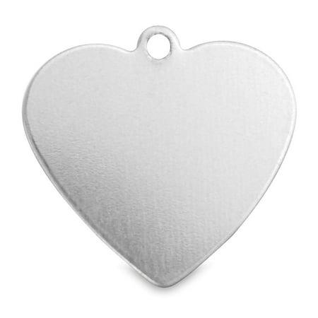 ImpressArt Stamping Blanks - Heart Tag, Aluminum, Pkg of