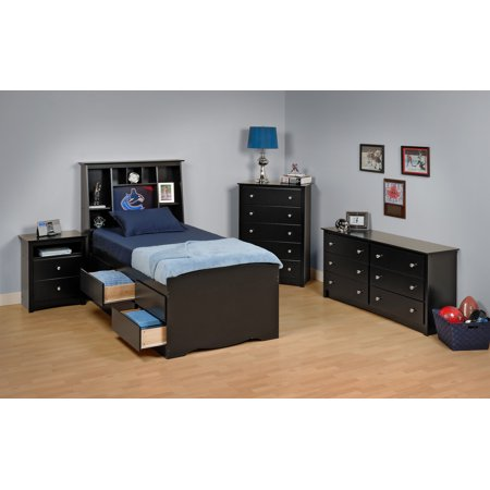 black sonoma twin bedroom set bed size tall twin set 5 piece walmart