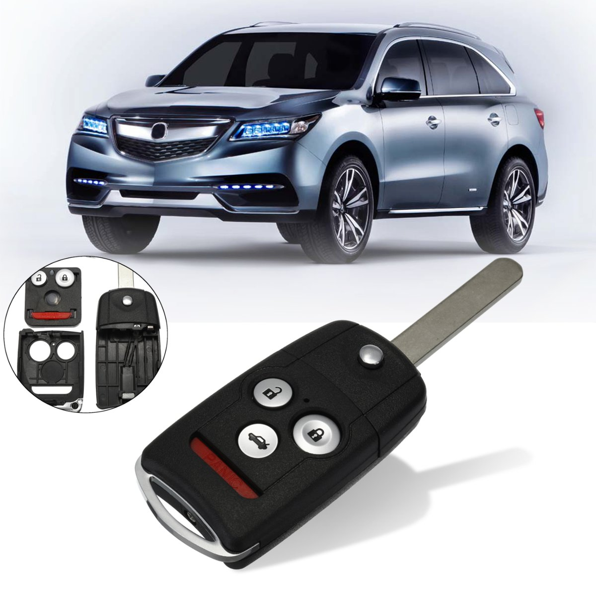 New Uncut Entry Keyless Remote Flip Key Fob Case Shell For Acura TL TSX Accord #KK-2620 N5F0602A1A