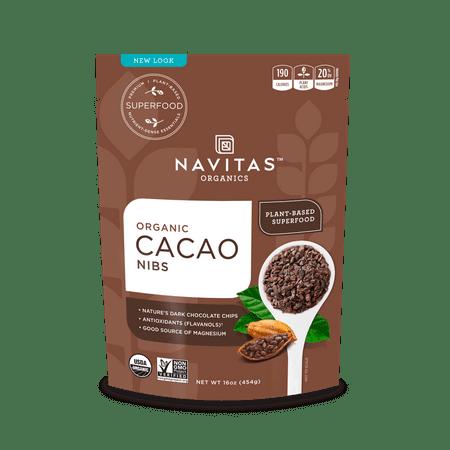 Navitas Organics Cacao Nibs, 1.0 Lb, 15 - Raw Cacao Nibs