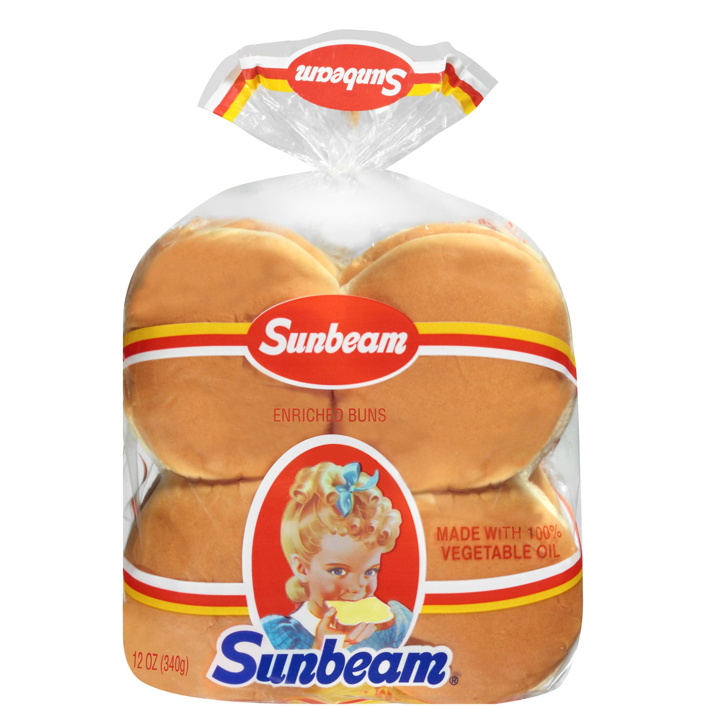 Sunbeam® White Enriched Hamburger Buns 8 ct 12 oz. Bag