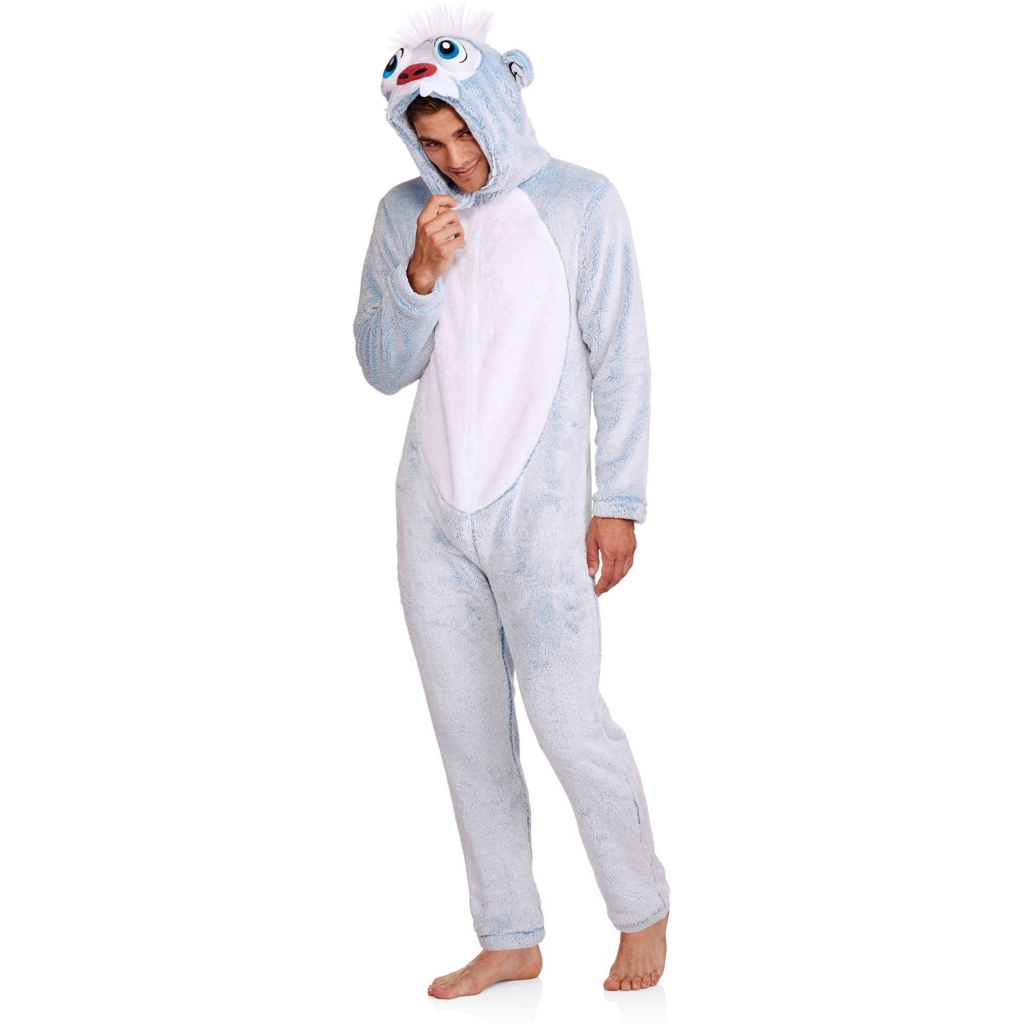 Big Men's Onesie Yetti Snowman Union Suit