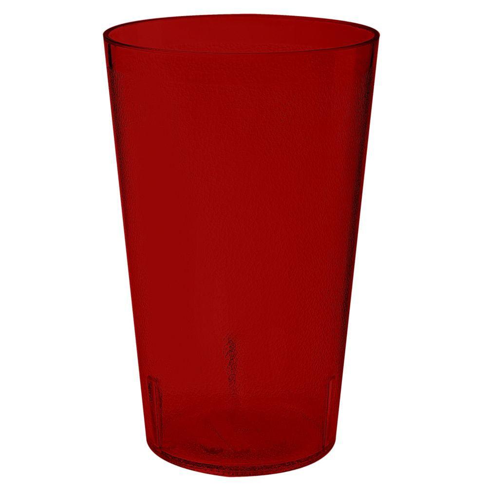 G.E.T. 5032-1-4-R Short Textured 32 Ounce Red Tumbler - 48 / CS