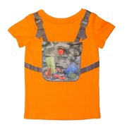 Udoo Planet Little Boys Yellow Khaki Camouflage Backpack Playful T-Shirt 3T-6