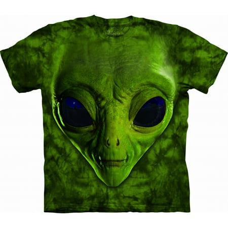 Kids 100% Cotton Alien Face Graphic Novelty T-Shirt - Fame Light T-shirt
