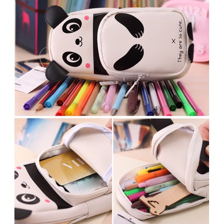 Mosunx Cute Kawaii 3D Panda Pencil Case School Supplies Novelty Item For Kids - School Supplies For Kids