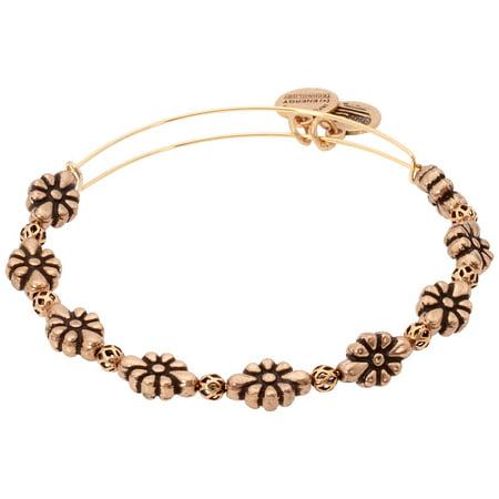 Alex And Ani Rafaelian Gold Blossom Flower Bangle Bracelet A18BLMRG