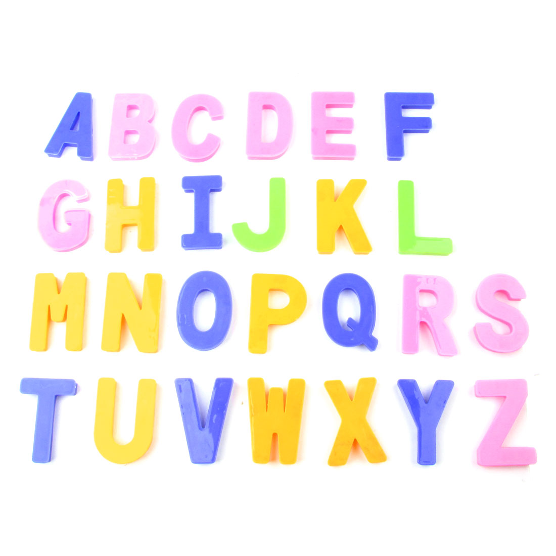 Children Assorted Color Plastic English Letters Plaything Puzzle Toy 26pcs