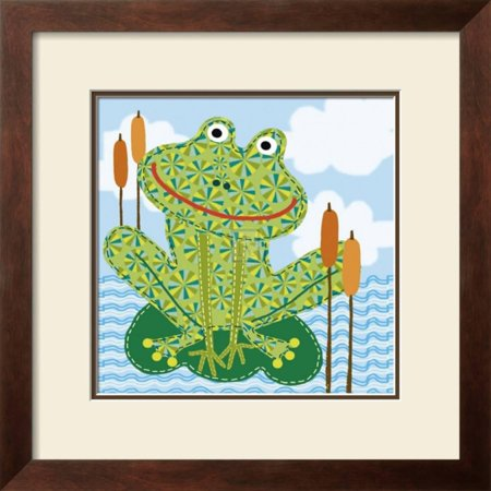 Frankie the Frog Framed Art Print Wall Art By Jessie Eckel - 19x19 ...