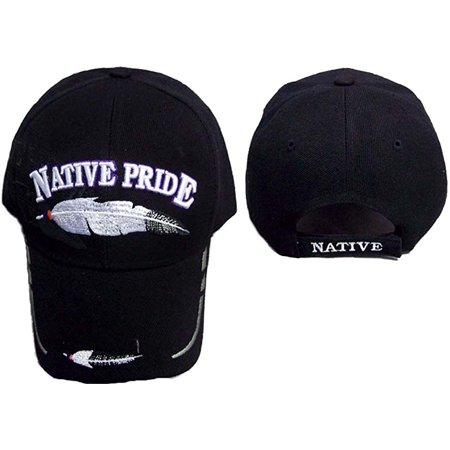 Brand New Feathers Native Pride Embroidered Baseball Caps - Khaki Color  (CapNp349 ZW) 0993abde179