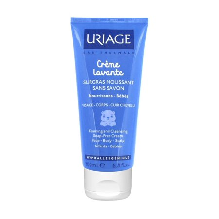 Uriage Baby Crème Lavante Foaming and Cleansing Soap-Free Cream 6.8 (Whamisa Organic Flowers Foam Cleansing Cream Review)