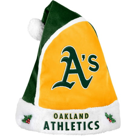 Forever Collectibles MLB 2015 Santa Hat, Oakland Athletics