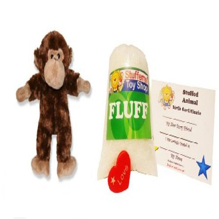 Make Your Own Stuffed Animal Mini 8 Inch Mr Monkey Kit - No Sewing Required!