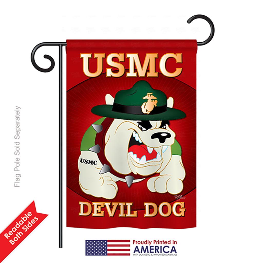 Breeze Decor G158052 Devil Dog Americana Military Impressions Decorative Vertical Garden Flag 13 X 18 5 Printed Multi Color Walmart Com Walmart Com