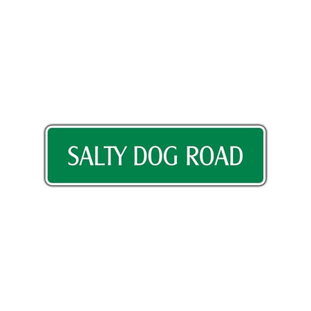 Salty Dog Road Metal Street Sign Cocktail Juice Drink man Cave Bar Décor 4x13.5](Salty Dog Cocktail)