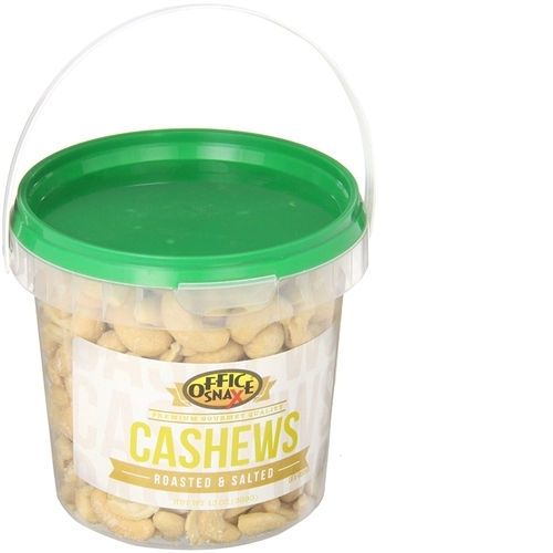 Office Snax Roasted & Salted Cashews, 15 oz