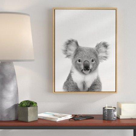 Ivy Bronx 'Koala Bear' Framed Photographic Print on Canvas