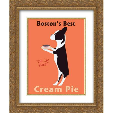 Boston's Best Cream Pie 2x Matted 16x19 Gold Ornate Framed Art Print by Ken