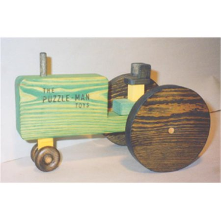 The Puzzle Man Toys W 2031 Wooden Play Farm Series   Accessories   Tractor