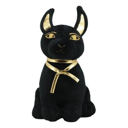Ebros Classical Gods Of Egypt Guardian Anubis Or Bastet Plush Toy Stuffed Doll Medium Sized 9