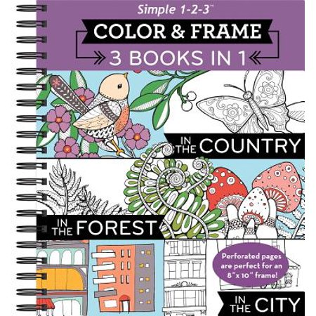 Color and Frame 3 in 1 Country, Forest, City
