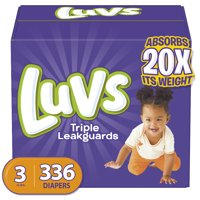 Luvs Triple Leakguards Extra Absorbent Diapers, Size 3, 336 Ct