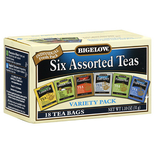 Bigelow Six Assorted Variety Pack Tea, 18ct  (Pack of 6)
