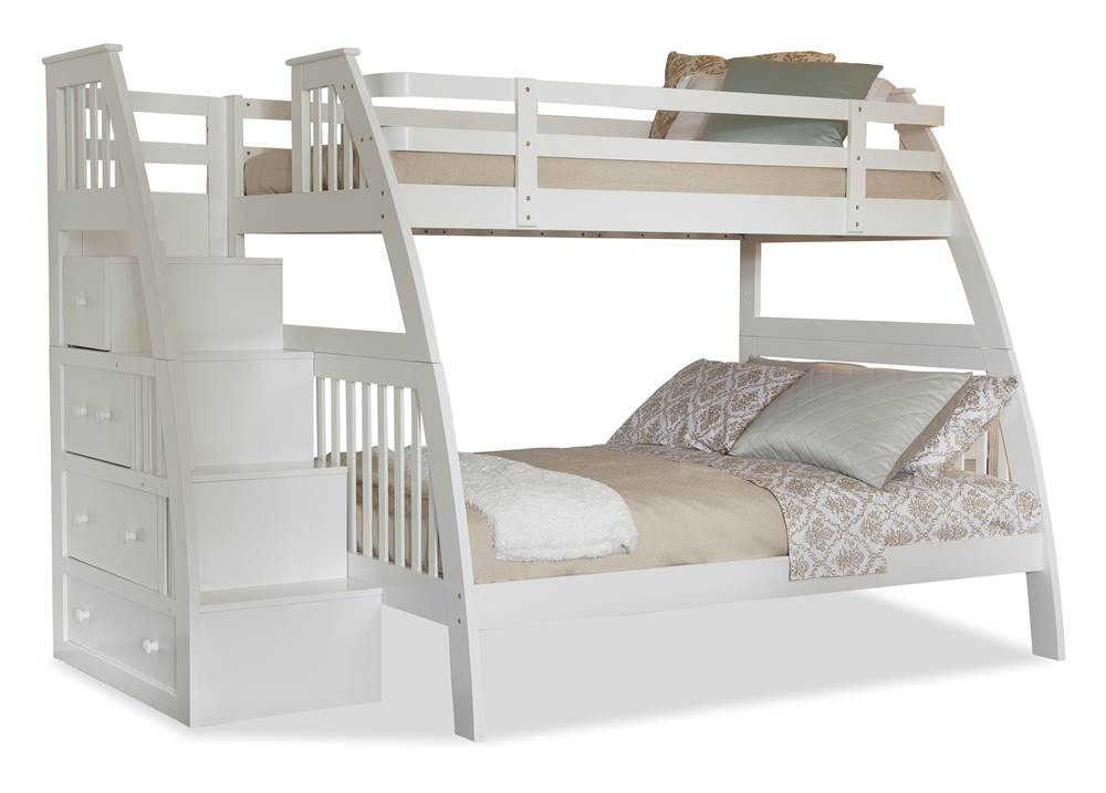 Canwood furniture whistler junior twin low loft bed - Adult loft beds with stairs ...