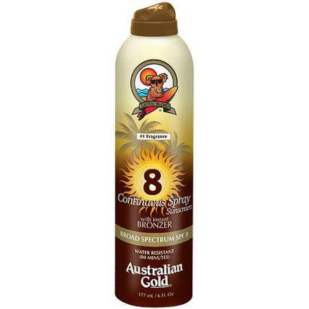 Continuous Spray Bronzer SPF8 Sunscreen Australian Gold