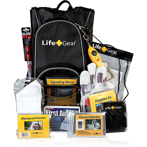 "Life Gear ""Day Pack"" Emergency Survival Kit with Emergency Gear and First Aid Kit"
