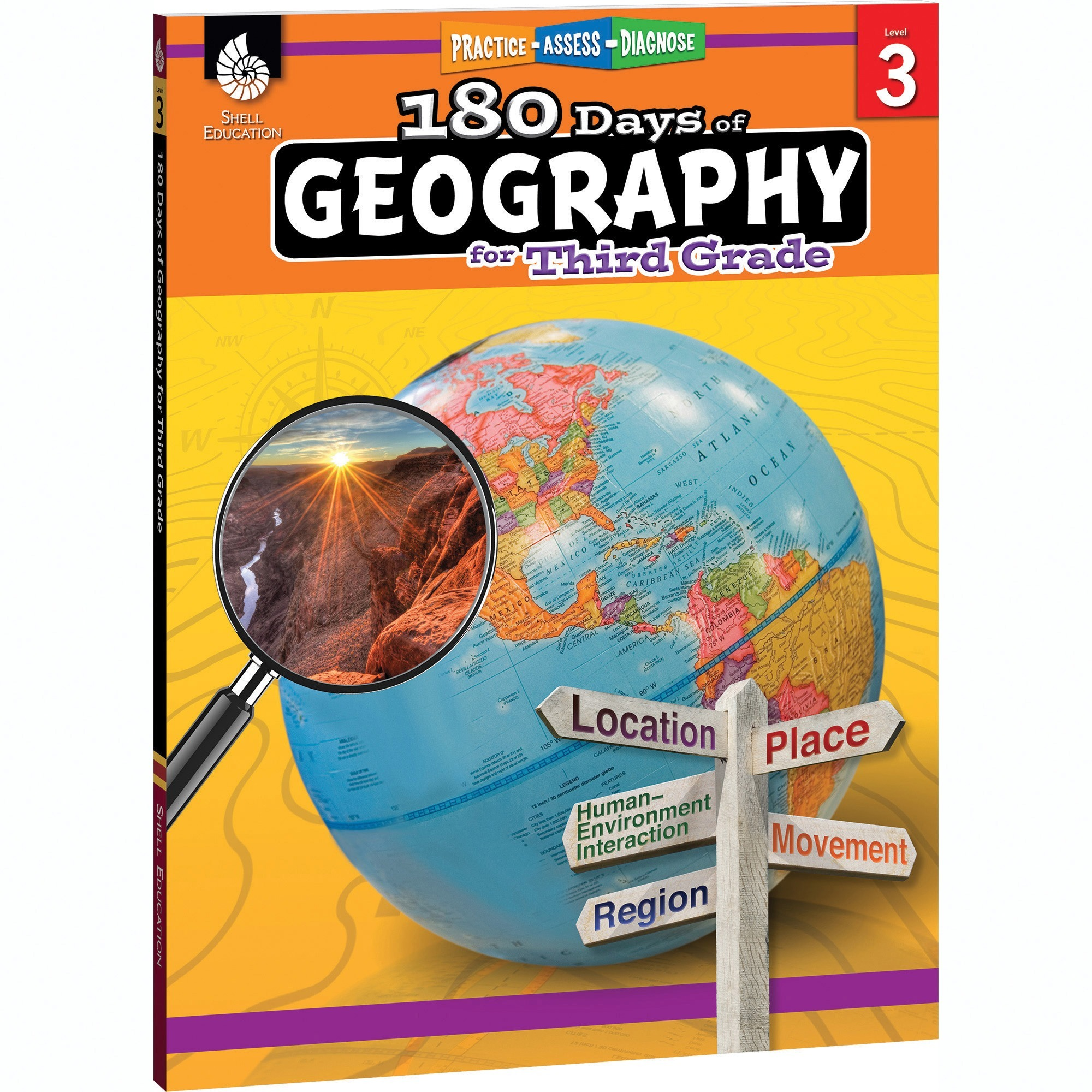 """Shell Resource Book Geography Grade 3 8-1 2""""Wx11""""Lx1""""H Multi 28624 by Shell Education Teacher Created Materials"""