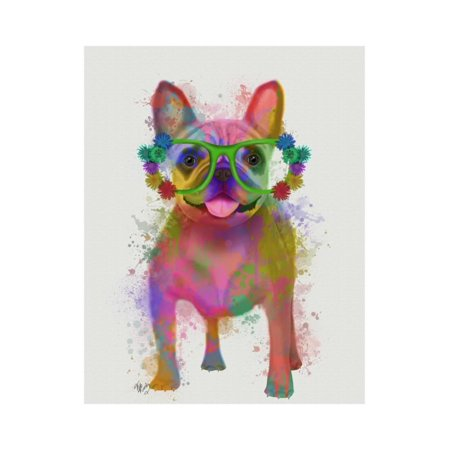 Rainbow Splash French Bulldog, Full Print Wall Art By Fab