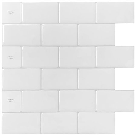 10 Sheets Premium Anti Mold Peel and Stick Backsplash Tiles for Kitchen 12