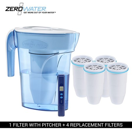 Zero Water ZP006 6 Cup Water Dispenser Pitcher Bundle (4 Pk)