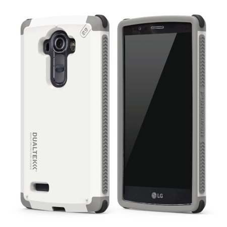 Pure Gear DualTek Protective Cell Phone Case - LG G4 - White