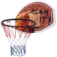 Gymax Wall Mounted Fan Backboard With Basketball Hoop and Rim Outdoor Indoor Sports