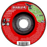 Diablo DBD045250701C Depressed Center, Type 27 Grinding Wheel, 7/8 in Arbor, Aluminum Oxide, 4-1/2 in Dia 10 Pack 11 Type 27 Wheel