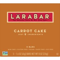 LARABAR Gluten Free Fruit and Nut Bars Carrot Cake, 5 ct