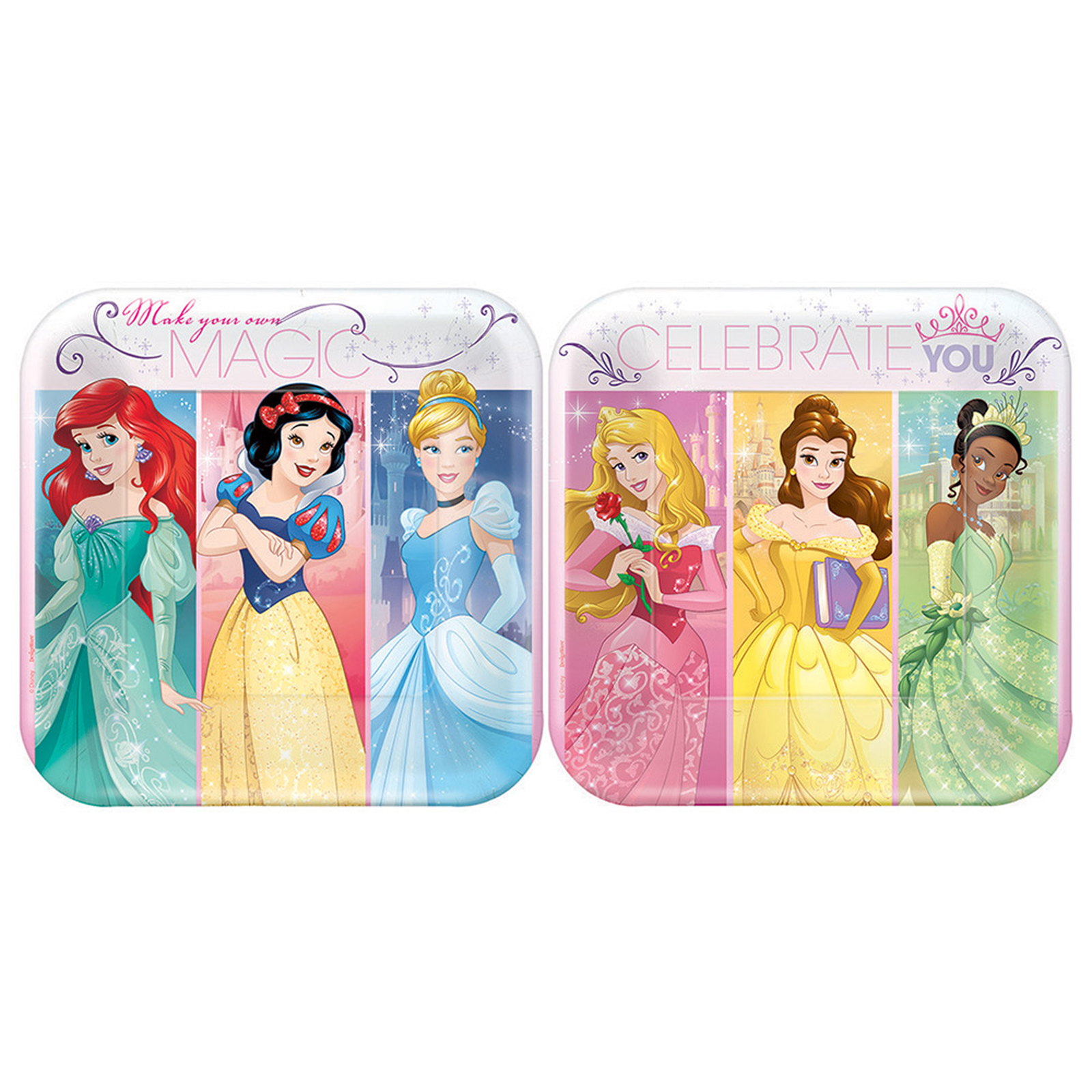 "7"" Disney Princess Square Paper Party Plate, 8ct"