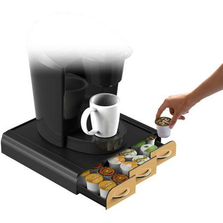 Mind Reader 36 Capacity 'Anchor' Triple Drawer Single Serve Coffee Pod Holder, Brown