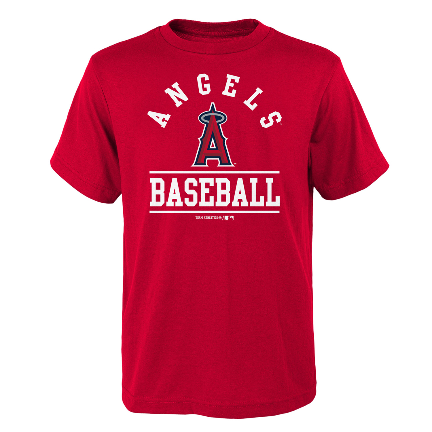Youth Red Los Angeles Angels Arch T-Shirt