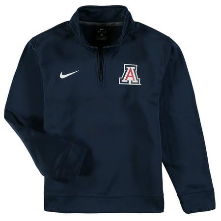 - Arizona Wildcats Nike Youth Therma Quarter-Zip Performance Jacket - Navy