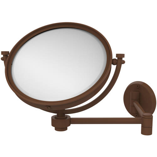 "8"" Wall-Mounted Extending Make-Up Mirror, 4x Magnification (Build to Order)"