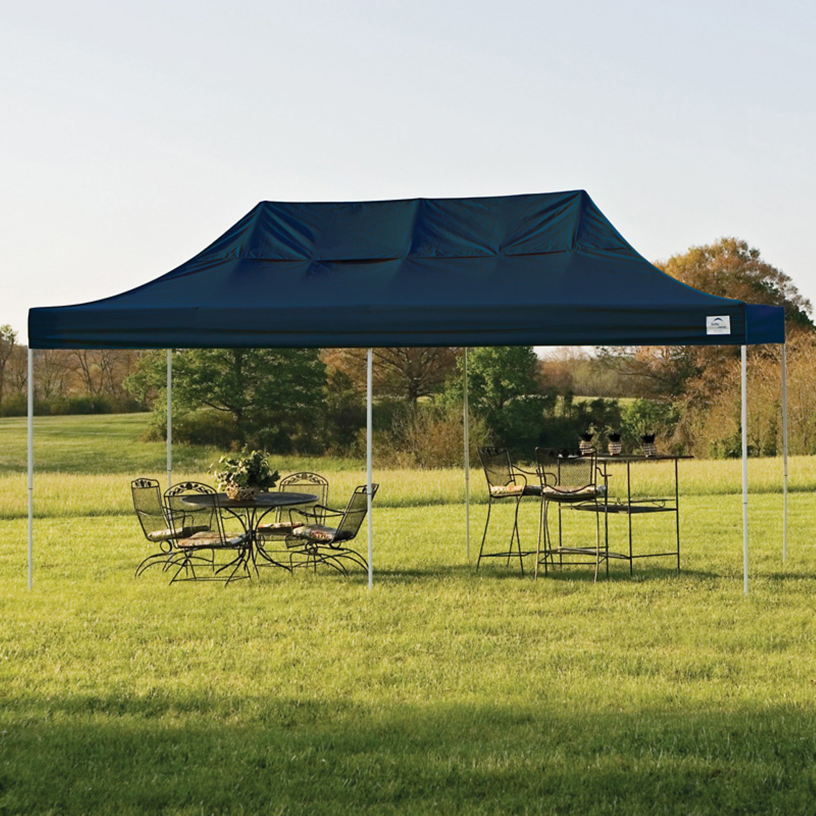 10' x 20' Pro Pop-up Canopy Straight Leg, White Cover