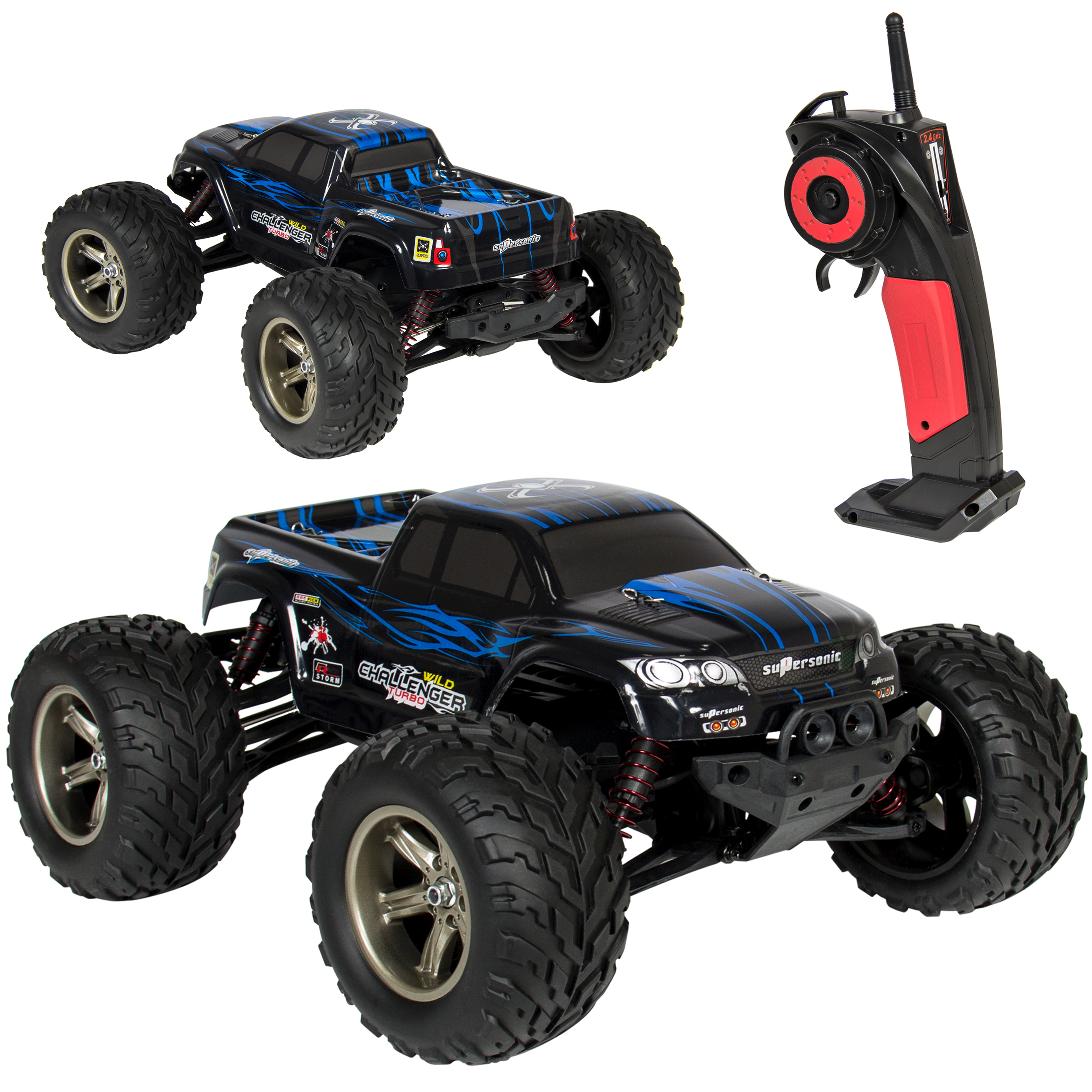 Best Choice Products 1/12 Scale 2.4GHZ Remote Control Truck Electric RC Car High Speed Monster Off Road Black