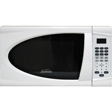 Sunbeam 0 7 Cuft 700 Watt Microwave Oven Sgdj701 White
